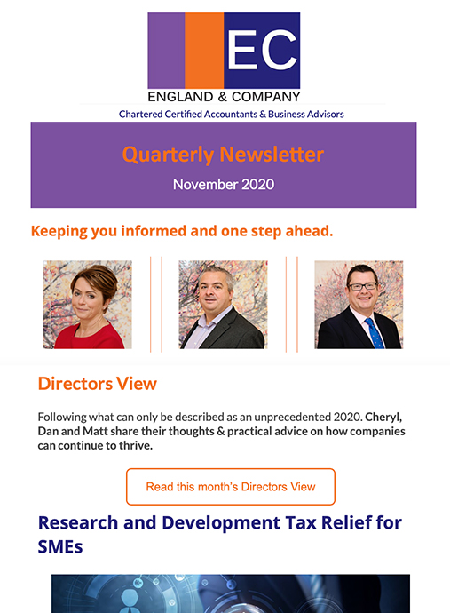 England and Company Quarterly Newsletter